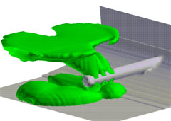 FLOW3D simulation of an outfall diffuser